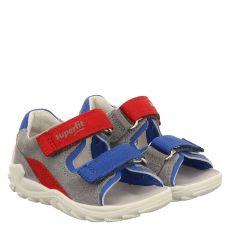 Superfit Veloursleder-Sandale in grau für Jungen