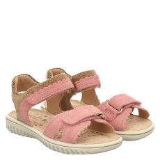 Superfit, Rot, Veloursleder-Sandale in rosé für Mädchen