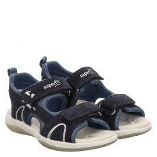 Superfit Veloursleder-Sandale in blau für Mädchen