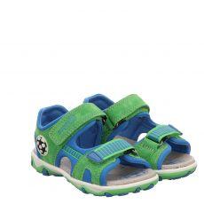 Superfit Veloursleder-Sandale in grün für Jungen