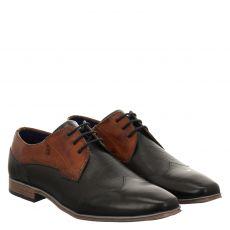 Bugatti, Morino, eleganter Glattleder-Schnürer in grau für Herren