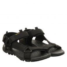 Camel Active, Treksandal, Textil-Sandale in schwarz für Herren