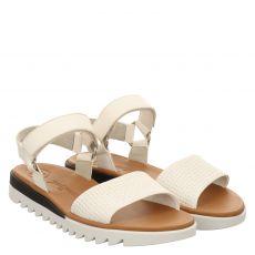 Paul Green Glattleder-Sandalette in weiß für Damen