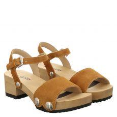 Softclox, Penny, Veloursleder-Sandalette in braun für Damen