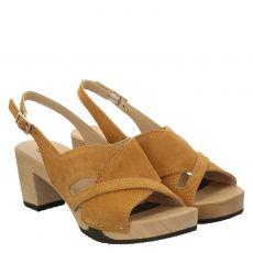 Softclox, Runa, Veloursleder-Sandalette in braun für Damen