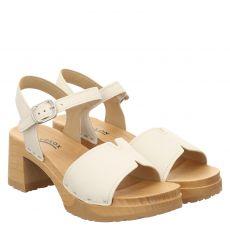 Softclox, Hanny, Glattleder-Sandalette in weiß für Damen