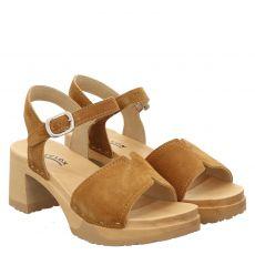 Softclox, Hanny, Veloursleder-Sandalette in braun für Damen