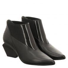 United Nude kurzer Glattleder-Stiefel in schwarz für Damen