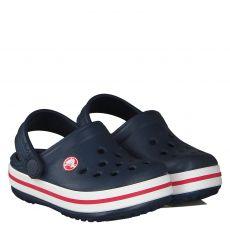 Crocs, Crocband Kids, Gummi (synth.)-Pantolette in blau für Mädchen