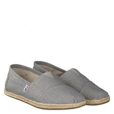 Toms, Alpargata, sportiver Textil-Slipper in grau für Herren