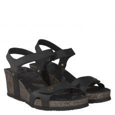 Panama Jack Nubukleder-Sandalette in schwarz für Damen