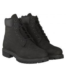 Timberland, Premium Boot, sportiver Nubukleder-Stiefel in schwarz für Herren