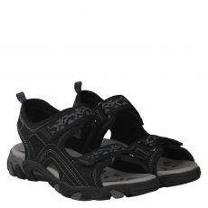 Superfit, Hike, Textil-Sandale in schwarz für Mädchen