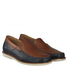 Galizio Torresi eleganter Glattleder-Slipper in braun für Herren