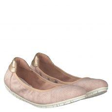 S.oliver Schuhe, Rot, Kunstleder-Ballerina in rosé für Damen
