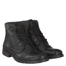 Sailer eleganter Glattleder-Stiefel in schwarz für Herren