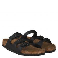 Birkenstock, Florida, Kunstleder-Basics-Schuh in schwarz für Damen