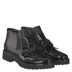 Luca Grossi, Capidenice, kurzer Glattleder-Stiefel in schwarz für Damen