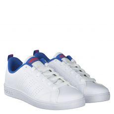 Adidas, Vs Advantage Clean, Kunstleder-Halbschuh in weiß für Jungen