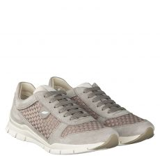 GEOX, D SUKIE A - SUEDE WOVEN TEXT, GRAU