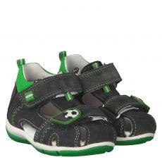 Superfit, Grau, Veloursleder-Sandale in anthrazit für Jungen