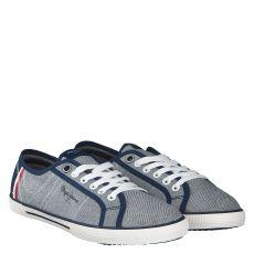 Pepe Jeans, Aberman Court, Textil-Leinenschuh in blau für Herren