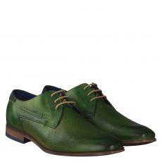 Bugatti, Mattia, eleganter Glattleder-Schnürer in grün für Herren