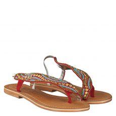 Bali Bali, Padang Bai, Textil-Sandale in rot für Mädchen