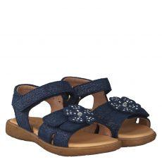 Lille Smuk Nubukleder-Sandale in blau für Mädchen