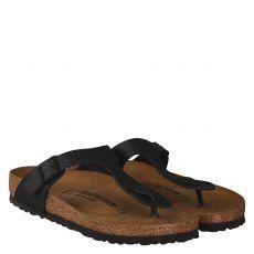 Birkenstock, Gizeh Bs[zehensteg], Kunstleder-Fußbettschuh in schwarz für Herren