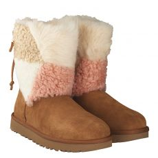 UGG, SHORT PATCHWORK, BRAUN