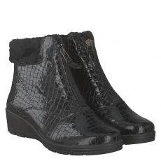Van Der Laan warmer Lackleder-Stiefel in schwarz für Damen