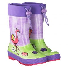 Maximo, Flamingo, Regenstiefel in mehrfarbig für Mädchen