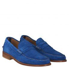 Fernando Strappa eleganter Veloursleder-Slipper in blau für Herren