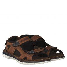 Rieker Kunstleder-Sandale in braun für Herren