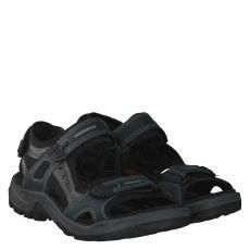 Ecco, Offroad, Fettleder-Sandale in blau für Herren