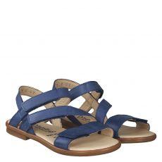 Daeumling Glattleder-Sandale in blau für Mädchen