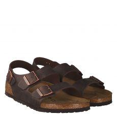 Birkenstock, Milano Bs, Fettleder-Sandale in braun für Herren