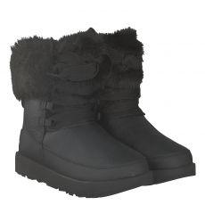 Ugg, Gracie, warmer Glattleder-Stiefel in schwarz für Damen