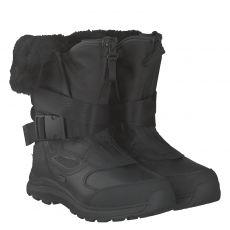 Ugg, Tahoe, warmer Glattleder-Stiefel in schwarz für Damen
