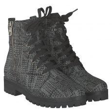 Waldläufer, Hanako, kurzer Veloursleder-Stiefel in schwarz für Damen