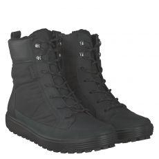 Ecco, Soft 7 Tred W, warmer Veloursleder-Stiefel in schwarz für Damen
