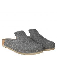 Mubb Wolle/Schurwolle-Hausschuh in grau für Damen