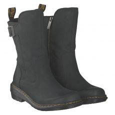 Dr.Martens, Vaux Mid, kurzer Nubukleder-Stiefel in schwarz für Damen