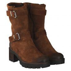Manas warmer Nubukleder-Stiefel in braun für Damen