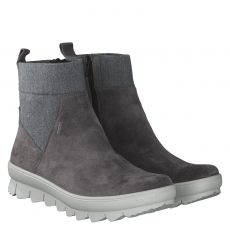 Legero warmer Veloursleder-Stiefel in grau für Damen