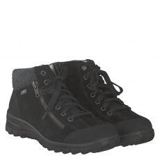 Rieker warmer Veloursleder-Stiefel in schwarz für Damen