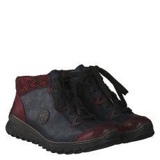 Rieker warmer Glattleder-Stiefel in blau für Damen