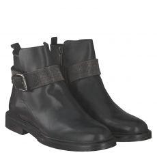 Steffen Schraut kurzer Glattleder-Stiefel in schwarz für Damen
