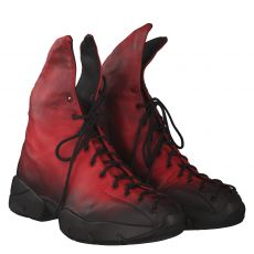 Papucei kurzer Glattleder-Stiefel in rot für Damen